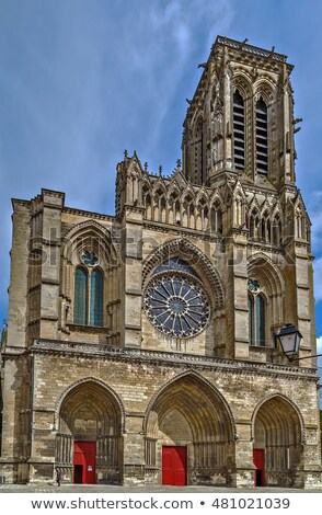 soissons cathedral france stock photo © borisb17