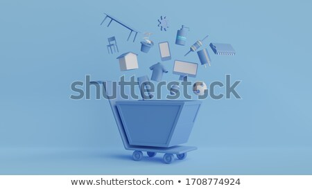 Online shopping - colorful flat design style illustrations Stock photo © Decorwithme