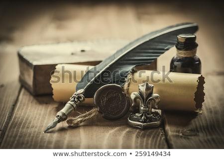 Vulpen bruin papier abstract ontwerp Stockfoto © restyler