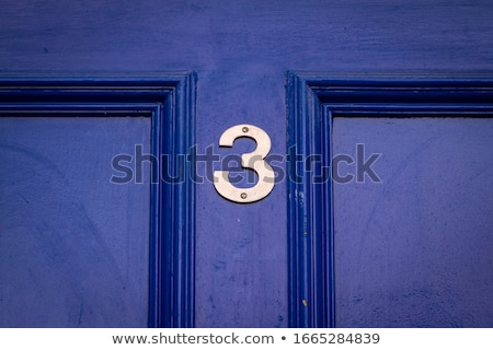 Number 3, three, house number  Stock photo © grafvision