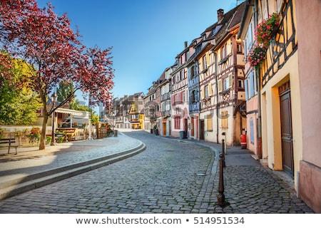 straat · Frankrijk · historisch · huizen · stad · centrum - stockfoto © borisb17