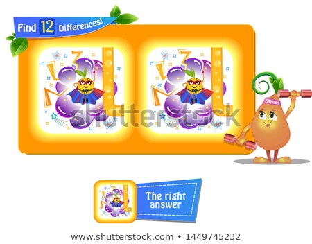 12 differences funny fruit super Stock photo © Olena