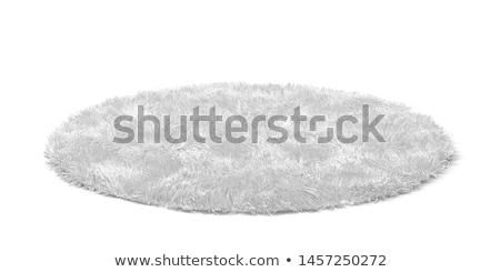 puszysty · dywan · 3d · ilustracji · odizolowany · biały · tle - zdjęcia stock © montego