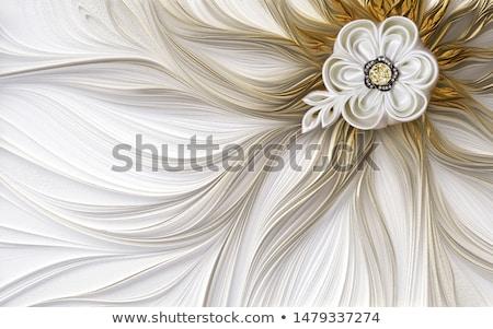Soyut gümüş dekorasyon 3D Stok fotoğraf © djmilic