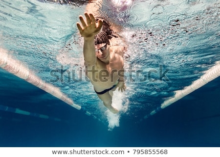 Alone swimmer Stock photo © nomadsoul1