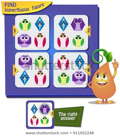 Cijfer driehoek onderwijs spel kinderen volwassenen Stockfoto © Olena