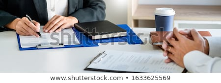 Job interview, Corporate business Employer or recruiter around t Stock photo © snowing