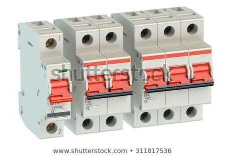 Two circuit breakers on white background Stock photo © bluering