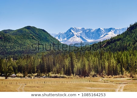 Kurai steppe and North-Chui ridge Stock photo © olira