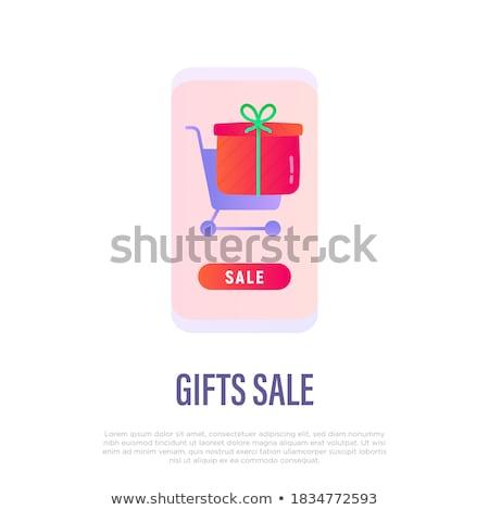 электронной коммерции иконки дизайна телефон мобильных Сток-фото © yupiramos