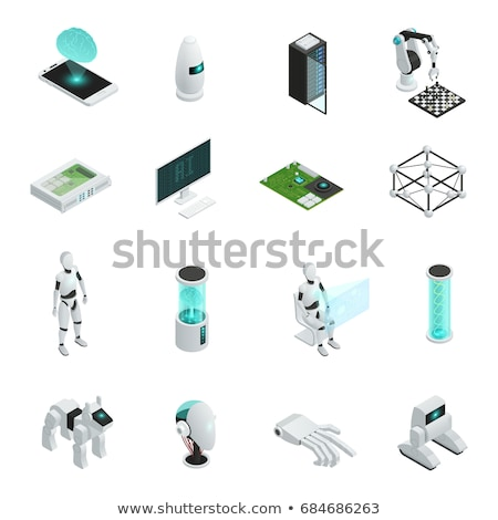 Artificial Intelligence Vector Isometric Icons Set Stock photo © pikepicture