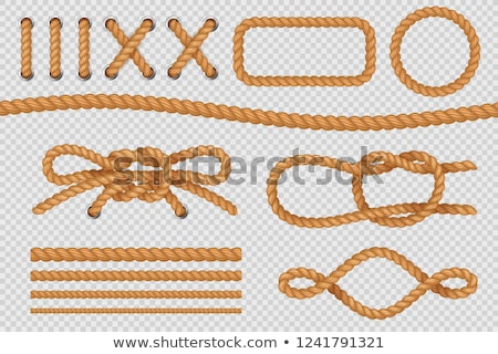 An old rope tied in a knot  Stock photo © inxti
