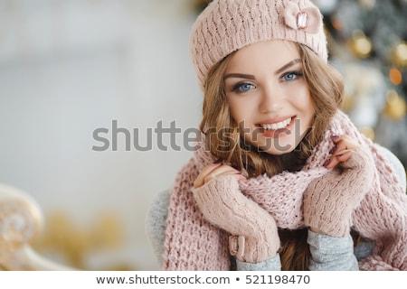 クリスマス · 女性 · 美しい · 笑みを浮かべて · 少女 · モデル - ストックフォト © smithore