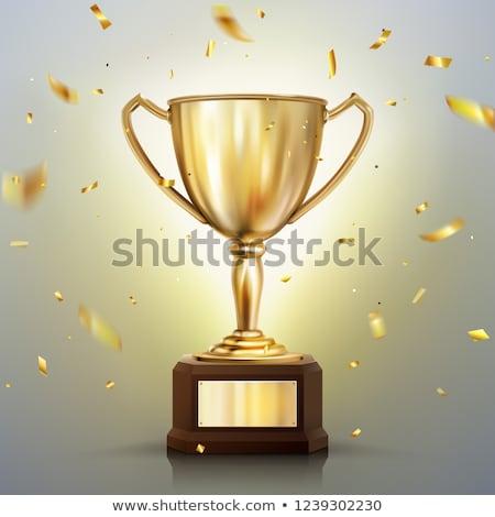 Gouden winnaars goud succes beker Stockfoto © vrvalerian