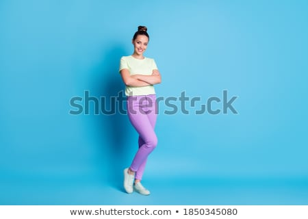 Confident Smiling Businesswoman Arms Crossed Stock photo © stryjek