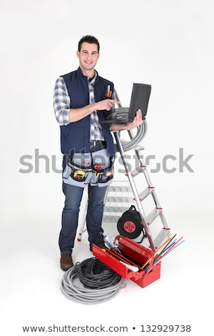 carpenter stood in studio stock photo © photography33