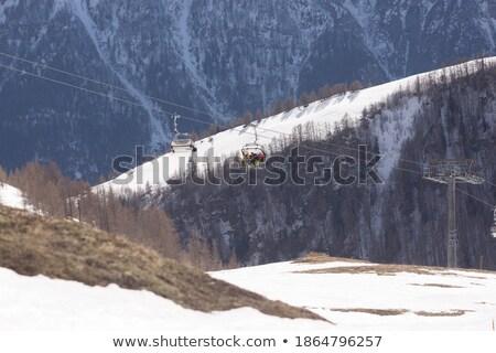 sí · üdülőhely · gleccser · Ausztria · tél · tájkép - stock fotó © franky242