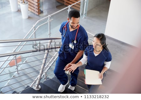 doctor in front of stairs stock photo © photography33