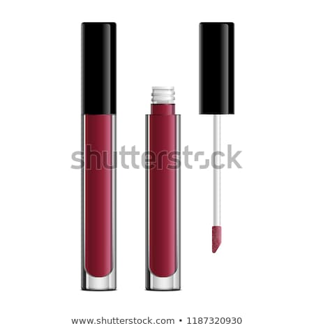 lipgloss · geïsoleerd · witte · vrouw · gezicht · mode - stockfoto © ozaiachin