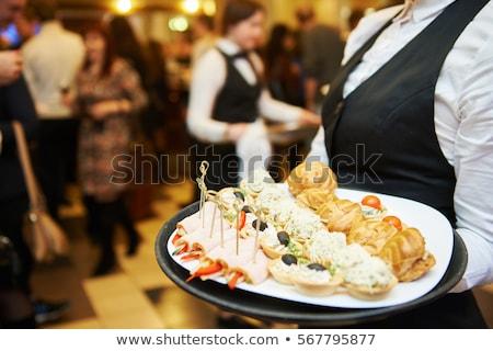 Personale catering industria lavoro suit nero Foto d'archivio © photography33