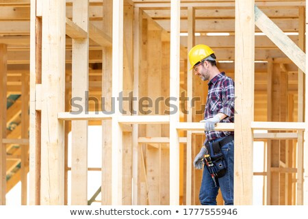 Builder with timber Stock photo © photography33