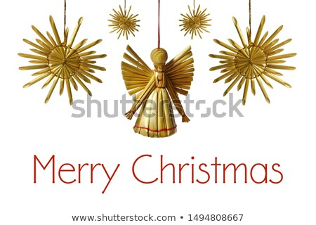 christmas decoration with straw stars Stock photo © prill