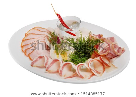 Foto stock: Carne · presunto · calabresa · chorizo · azeitonas