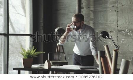 Executive rubbing his nose Stock photo © photography33
