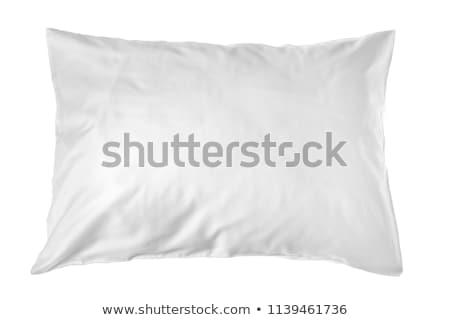 Branco travesseiro fundo pena caminho caso Foto stock © ozaiachin