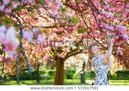 enjoying a cherry stock photo © lisafx