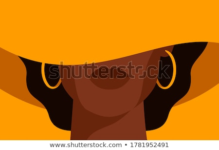 Сток-фото: женщину · Hat · фото · красивая · женщина · черный