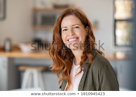 Red Haired Senior - Happy stock photo © lisafx