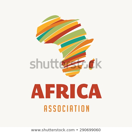 illustration of map of africa in sunset Stock photo © experimental