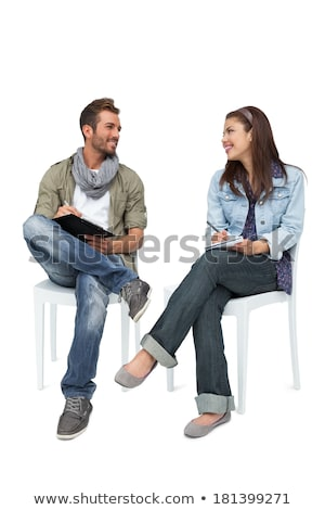 Young couple writing in a book Stock photo © photography33