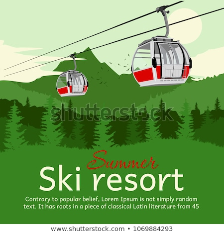 Ski lift gondola in Alps Stock photo © dotshock