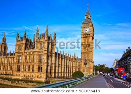 Westminster Bridge and Elizabeth Tower in London Stock photo © dutourdumonde