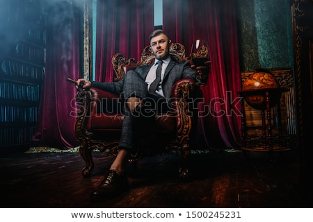 musculaire · Guy · posant · style · mains - photo stock © curaphotography