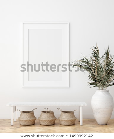 pictures on the wall and bench. Stock photo © nav