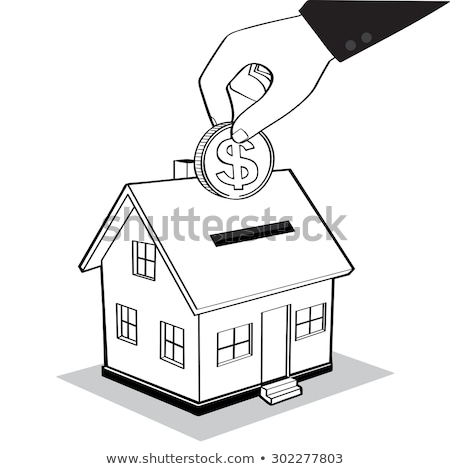 money box house with dollar coins	 Stock photo © 4designersart