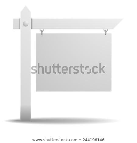 Fehér ingatlan felirat kommunikáció óriásplakát marketing Stock fotó © Lightsource