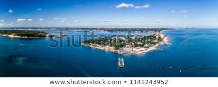 haven · zout · strand · landschap · zee · gebouwen - stockfoto © flotsom