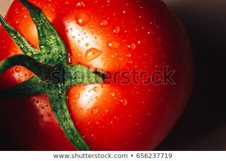 koktélparadicsom · friss · paradicsomok · fehér · piros · paradicsom - stock fotó © EwaStudio