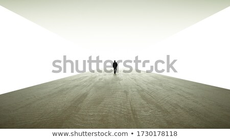 silhouette in a subway tunnel. Light at End of Tunnel Stock photo © rufous