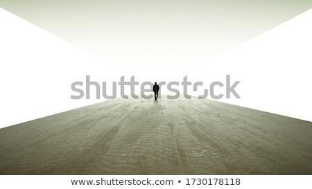 Silhouet metro tunnel licht einde abstract Stockfoto © rufous