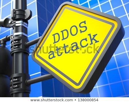 Internet aanval Blauw technologie achtergrond Stockfoto © tashatuvango