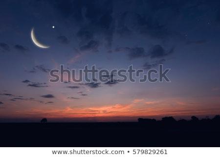 Gökyüzü ay Stok fotoğraf © zzve