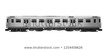 Subway train on a subway platform Stock photo © zzve
