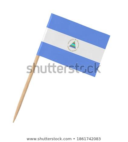 миниатюрный флаг Никарагуа изолированный белый Сток-фото © bosphorus