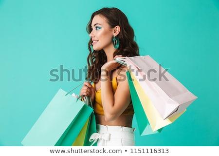 Szykowny brunetka portret piękna mocno Zdjęcia stock © lithian