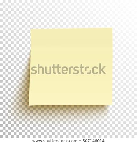 citromsárga · öntapadó · jegyzet · gemkapocs · fehér · iroda · tábla - stock fotó © javiercorrea15
